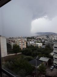 The rain...is coming in Athens