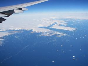 Greenland frozen from 10000m